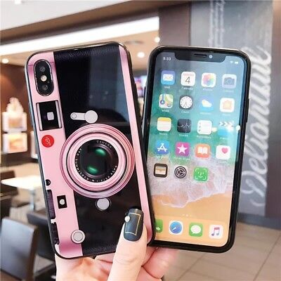 For iPhone X/8 7 Plus Phone Silicone Case Cute 3D Cartoon Gel Tpu Cover for Girl