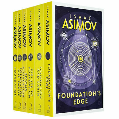 Isaac Asimov Foundation Series Second Foundation 6 Books Collection Set Pack NEW