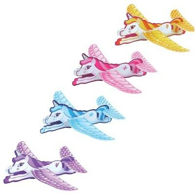 Unicorn Flying Gliders Planes Girls Birthday Party Favours Loot Bags Toy Gift