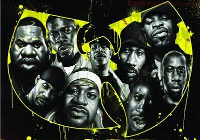 """MX02808 The Wu-Tang Clan - RZA Hip Hop Group Music 20""""x14"""" Poster"""