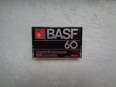 Vintage Audio Cassette BASF Chromdioxid Supe 60 From 1977 - EX Condition !