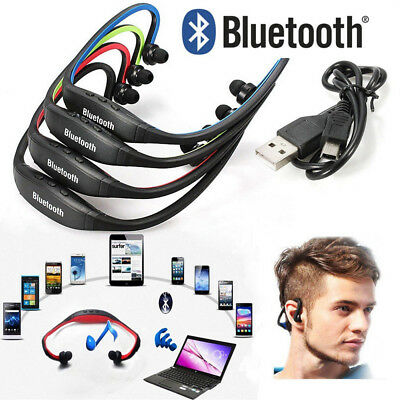 Universal Bluetooth Wireless Stereo Headset Sports Earphone Hand-free Headphones