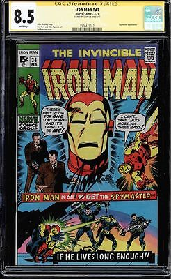 Iron Man #34 Cgc 8.5 White Pages Ss Stan Lee Spymaster App #1508473012