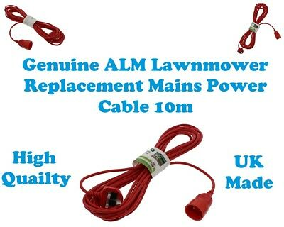 Qualcast Meh1633 Meh29 Genuine Alm Replacement Mains Power Cable 10M