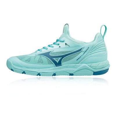 Mizuno Womens Wave Luminous Indoor Court Shoes Blue Sports Badminton Basketball