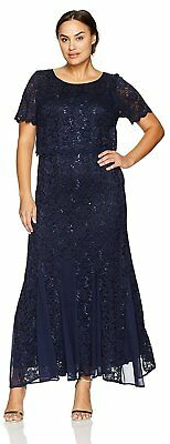 R&M Richards Navy Mother of the Bride Dress