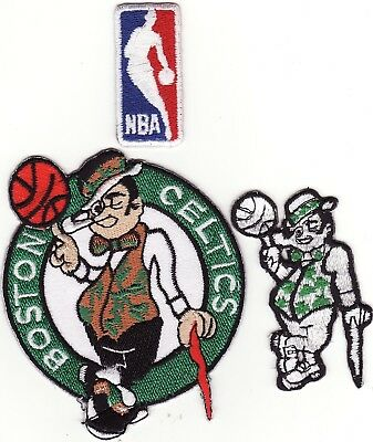 Boston Celtics Lot of 3 Embroidered Iron On Patches