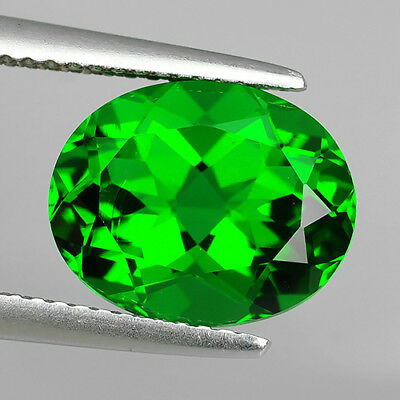 4.02 Ct Excellent Chrome Green Natural Moldavite Faceted Oval Cut Loose Gemstone