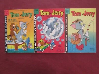 Tom Et Jerry Lot De 3 Bon Etat