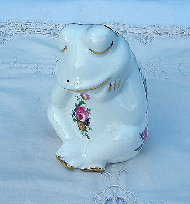 Fenton China - Frog With Flower Pattern