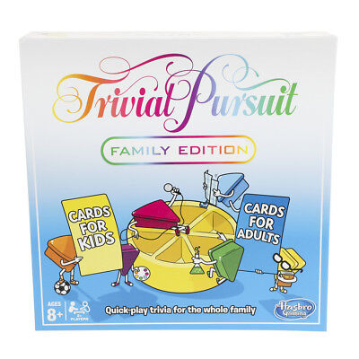 Trivial Pursuit Family Board Game Hasbro - New 2018 Edition