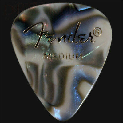 Fender Abalone Medium Guitar Picks / Plectrums In Packs Of 6 10 12 20 24 36
