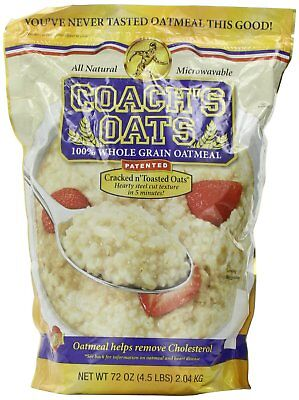 Coach's Oats 100% Whole Grain Oatmeal 4.5 Lbs All Natural Microwavable