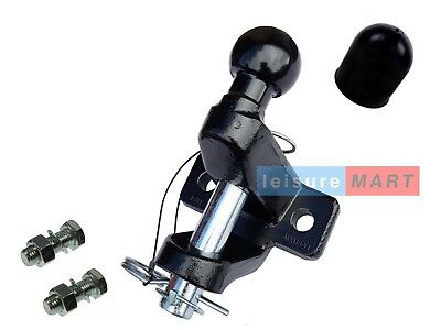 Black ball and pin towing hitch coupling supplied with bolts 3500kg Towing jaw