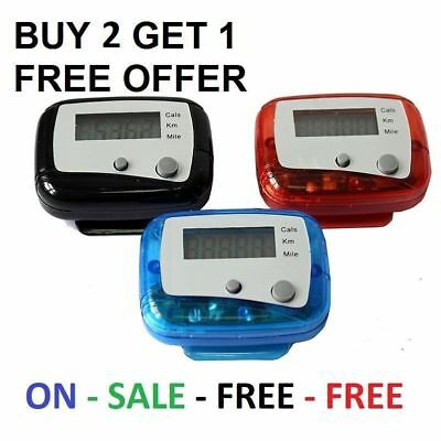 LCD Pedometer Step Walking Jogging Hiking Calorie Counter Distance Fitness - UK