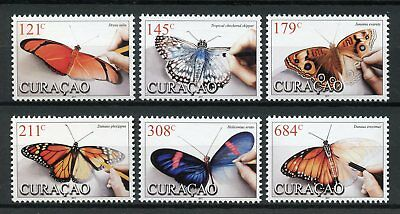 Curacao 2017 MNH Butterflies Monarch Butterfly 6v Set Insects Stamps