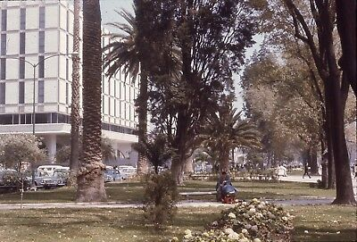 KODAK 35mm slide 1960s 1965 lots of cars parked on Mexico City street downtown