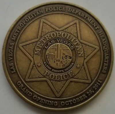 Las Vegas Metropolitan PD Police Headquarters Grand Opening October 26 2011 Coin