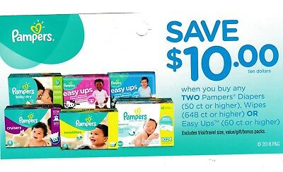 Coupons PAMPERS Diapers Wipes Easy Ups + Bonus [Canada]