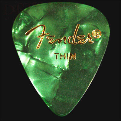 Fender Green Moto Thin Guitar Picks / Plectrums - Choice Of Quantities