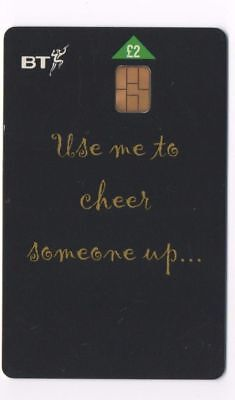 """BT Phonecard """"Use me to cheer someone up....."""" £2"""