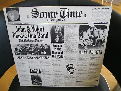 "John Lennon & Yoko Ono / Plastic Ono Band ""Some Time in New York City"" Vinyl-2LP"