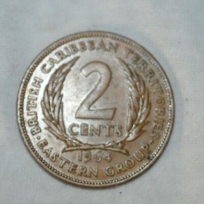 2 cent, 1964, British Carribean Territories, Eastern Group
