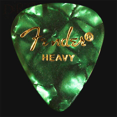 Fender Green Moto Heavy Guitar Picks / Plectrums - Choice Of Quantities