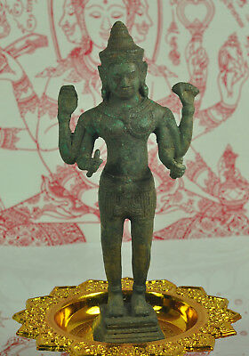 Antique FIGURE OF VISHNU Thai Hindu Khmer Lord GodBuddha Statue Angor Wat