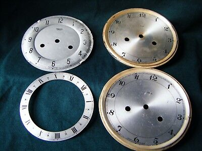 Enfield and Smiths Enfield Clock dials for spares X 4