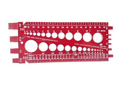 Nut and Bolt Measure Gauge Metric UNC UNF with Thread Pitch on Back Size Checker