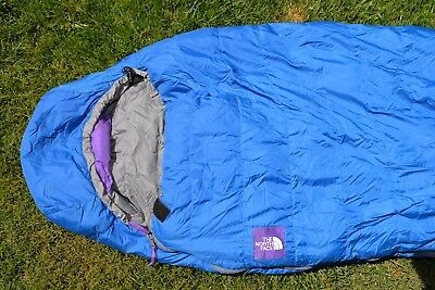 lowest price 840f7 b28e1 THE NORTH FACE Blue Superlight Goose Down Sleeping Bag Mummy Reg ~ Excellent