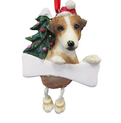 JACK RUSSELL Terrier Dangling Legs Ornament Dog Christmas Decoration by E&S Pets