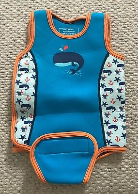 MOTHERCARE BABY BOY WETSUIT 12-24 Mths 1-2 Yrs SWIMMING HOLIDAY BEACH Whale