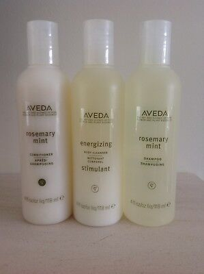 Genuine 3 x NEW Aveda Products - Shampoo, Conditioner and Body Cleanser