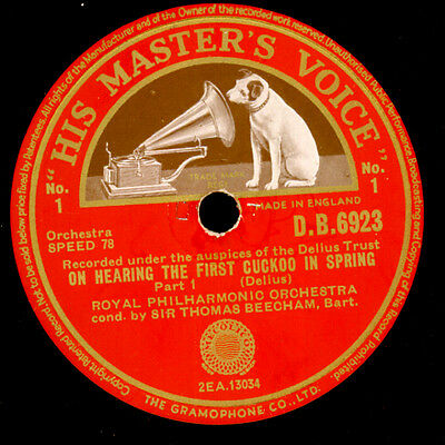 ROYAL PHILHARM. O. & BEECHAM Delius: On hearing the first Cuckoo in Spring G3345