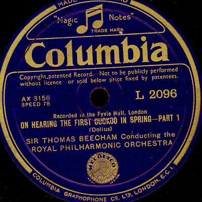 ROYAL PHILHARM. O. & BEECHAM Delius: On hearing the first Cuckoo in Spring G3353