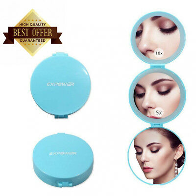 Expower Tri-Fold Lighted Travel Makeup Mirror, Compact Led Light Vanity...