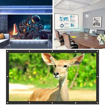 84 Inch 4:3 Home Cinema Movies Projector Screen Portable Soft Presentation 0532