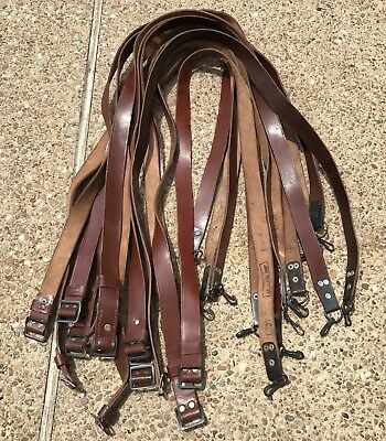 One (1) Vintage Romainian Leather AK Sling W/ Buckles VG Condition