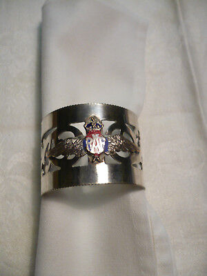 RAF silver plated napkin ring