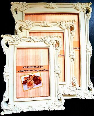 Shabby Chic Photo Frame Ornate Vintage Wedding French Christmas Gift Place card