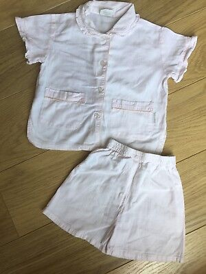 Sleepycosy Premium Cotton Baby Girl Pyjama PJs Shirt Shorts 12-18 Months