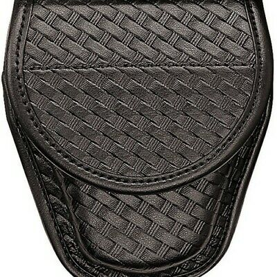 Bianchi Black 7900 Basketweave Accumold Elite Covered Handcuff Cuff Case 22063