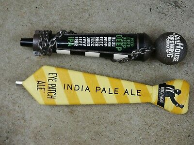 2 Cool Beer Tap Handles:Jail House Brewing & Monday Night Brewing Eye Patch Ale