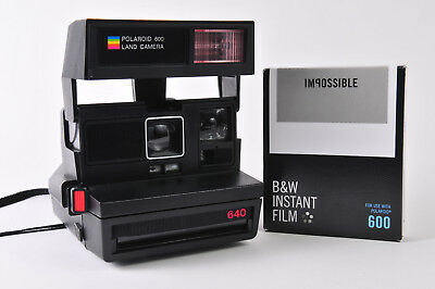 Retro Polariod 640 600 Instant Land Camera with free B&W film