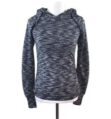 Maternity Black Space Dye Women's Lightweight Pullover Hoodie Size Small NWOT