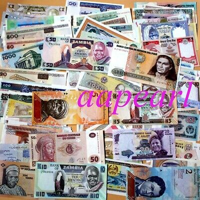 100pcs 30 countries Different World Banknotes 100% Real paper money Uncirculated