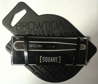 Browtician Minimalist Square Tip Stainless Steel Tweezers & case