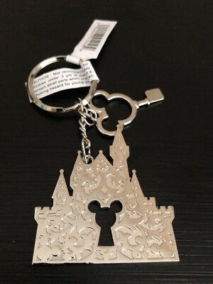 Cinderella Castle With Mickey Mouse Key Disney Parks Authentic Keychain Keyring